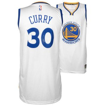 Autographed Golden State Warriors Stephen Curry Fanatics Authentic White Swingman Jersey
