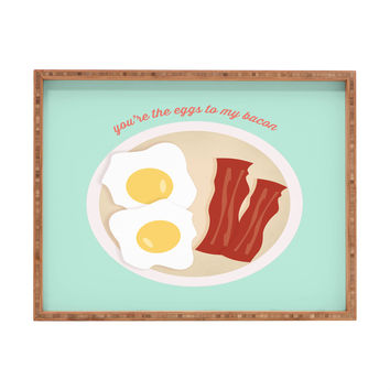 Allyson Johnson You Are The Eggs To My Bacon Rectangular Tray