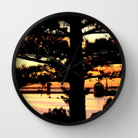 Through a Norfolk Pine Wall Clock by Chris' Landscape Images of Australia   Society6