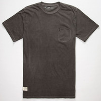 Lira Yank Mens Pocket Tee Black  In Sizes