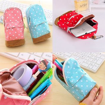 Mini School bag Pen Case Canvas Pencil Case Children Pen Bag For Students-N5