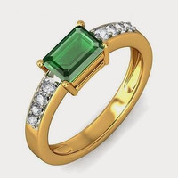 1.34ct Green Princess cut solitaire sterling silver wedding ring with free ship1
