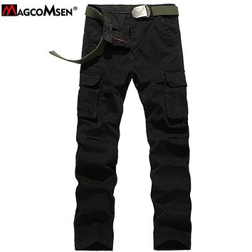 MAGCOMSEN 2017 New Arrival Men's Cotton Cargo Pants Multi Pockets Army Pants Trousers Man Military Tactical Pants AG-BDC-013