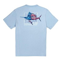 Stars and Stripes SS in Chambray Blue by The Southern Shirt Co..