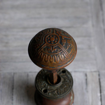 Antique Victorian Brass Doorknobs