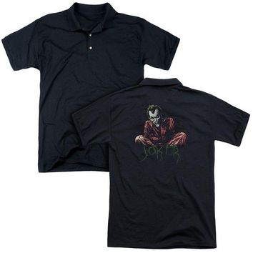 ac NOOW2 Batman - Straight Jacket (Back Print) Mens Regular Fit Polo