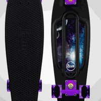 Black Penny Skateboard w/ Space Panel