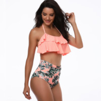 Women High Waist Swimsuit