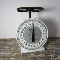Vintage Kitchen Scale Shabby Decor Farmhouse Decor Black and White Way Rite Scale