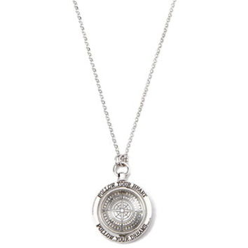 Longline Compass Pendant Necklace