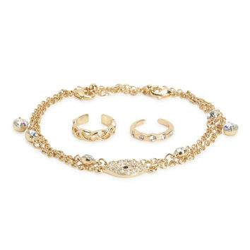 Toe Ring & Anklet Set
