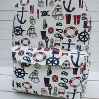 Anchor Canvas Backpack