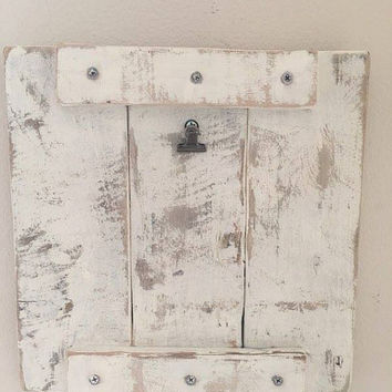 Free Shipping- Rustic Wooden Pallet Clipboard Art/Photo Display Frame/Picture Frame