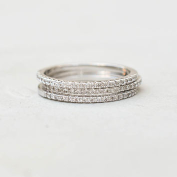Eternity Ring Set - Silver