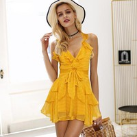 Kissland Ruffle Dress - Yellow
