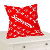 Best Supreme Red Design Decorative Throw Pillow Case Cushion 18x18 Cover