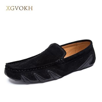 XGVOKH Men's Loafers Light  Driving Moccasins casual soft suede leather penny Shoes Spring Slip On Flats For 2017 Summer Style