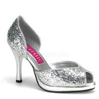 Silver Glitter Peep Toe Slip On Heels @ Amiclubwear Heel Shoes online store sales:Stiletto Heel Shoes,High Heel Pumps,Womens High Heel Shoes,Prom Shoes,Summer Shoes,Spring Shoes,Spool Heel,Womens Dress Shoes,Prom Heels,Prom Pumps,High Heel Sandals,Cheap D