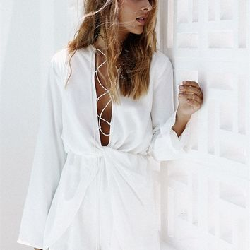 Twist Pana Playsuit - Playsuits by Sabo Skirt