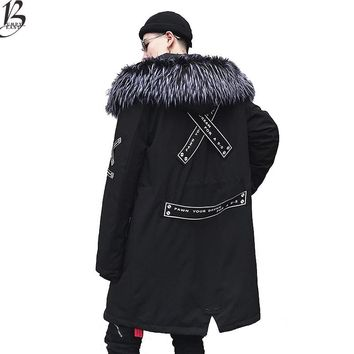 Winter Warm Jacket Men Thick velvet Warm Jackets Parkas hombre Mens Hooded jacket long trench coat US Size XS-XL