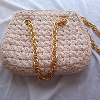 Vintage crocheted handbag by reevette on Etsy