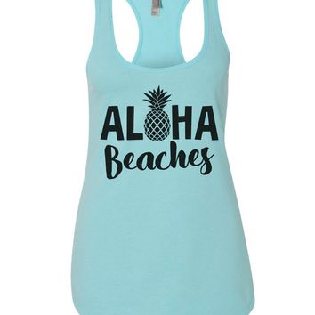 Aloha Beaches Womens Workout Tank Top