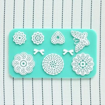 Silicone Lace Cake Chocolate Polymer Clay Fondant Mold Mould Decor Randomly = 5658093249