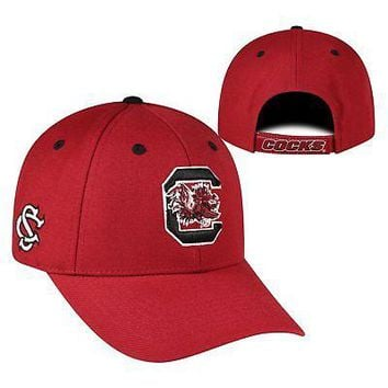 Licensed South Carolina Gamecocks NCAA Adjustable Triple Threat Hat Cap Top of the World KO_19_1