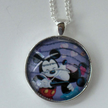 2006 Minnie and Mickey Mouse Pendant by vintagestampjewels on Etsy