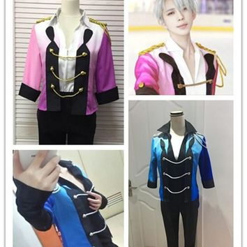 Yuri!!! on Ice Plisetsky Victor Nikiforov Cosplay ViKtor Halloween Cosplay Costume Stage Dance skating Outfit Full Suit
