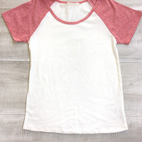 Play It Baseball Top - Blush