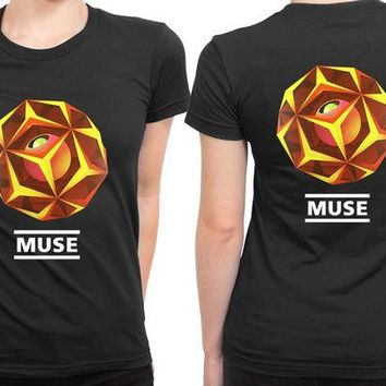 ONETOW Muse Symphony Fan Art 2 Sided Womens T Shirt