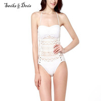 Women Sexy One Piece Lace Backless Swimsuit