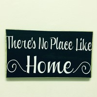 12x6 There's No Place Like Home Wood Sign