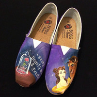 Disney Beauty and the Beast Custom Bobs or Toms- Shoes are included
