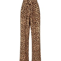 Blue Vanilla Brown Leopard Print Trousers | New Look
