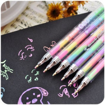 1.0mm Multi Colored Watercolor Gel Pens Diy Gallery For School Stationery Writing Office Supplies Kids Gift Tools