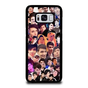 DAN AND PHIL COLLAGE Samsung Galaxy S3 S4 S5 S6 S7 Edge S8 Plus, Note 3 4 5 8 Case Cover
