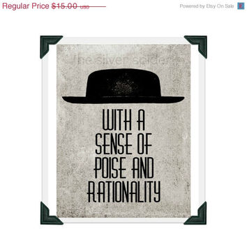 winter sale // Poise and Rationality - Panic at the Disco - Lyrics - Art Print - 8x10 - I Write Sins, Not Tragedies