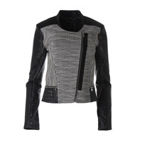 Kenneth Cole New York Womens Adara Faux Leather Crackled Motorcycle Jacket