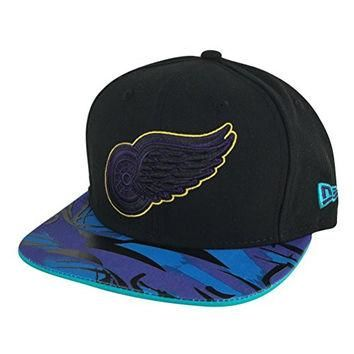 New Era Og Fits Detroit Redwings Black Aqua hook x Air Jordan Snapback Hat Cap