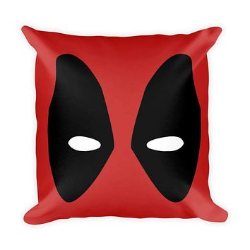 """Deadpool 18"""" x 18"""" Square Throw Pillow Cushion Made in the USA"""