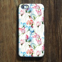Watercolor Pink Blue Floral iPhone 6s Case iPhone 6s Plus Case iPhone 6 Cover iPhone 5S 5 iPhone 5C iPhone 4/4s Galaxy S6 Edge Galaxy s6 s5 Galaxy Note 5 Phone Case 159