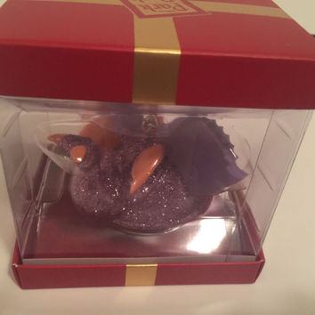 Disney Store Disney Holiday Subscription Glitter Figment Ear Hat Ornament New with Box