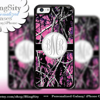 Camo Gray Grey Monogram iPhone 5C 6 Plus Case iPhone 5s 4 case Ipod muddy Realtree Personalized Cover Country Inspired Girl