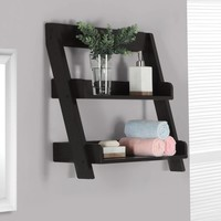 "Cappuccino 24""H Wall Mount Shelf"