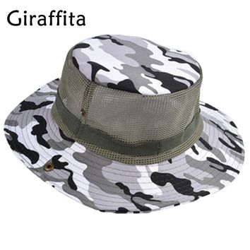 Camouflage Hiking Cap  Sunshade Fishing Bucket Hat Climb Mountain Jungle Hiking UV Protection Hats