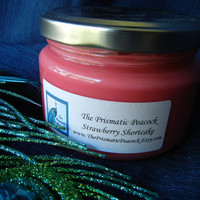 Strawberry Shortcake Scented Soy Candle in Salsa Jar