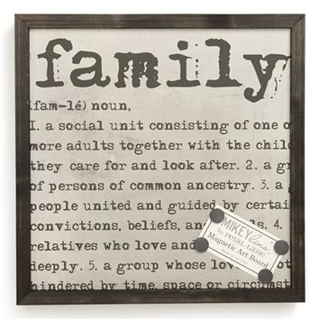 Petal Lane 'Family Definitions' Framed Magnet Art Board