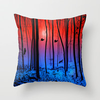 Mystical forest  Throw Pillow by Pirmin Nohr